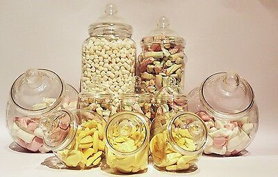 Plastic Jar for Candy Sweets Assorted Shape Storage Jars Birthday Buffet Party