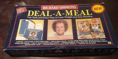 RICHARD SIMMONS WEIGHT Loss DEAL A MEAL Box Set 1993 VHS Cards nearly COMPLETE