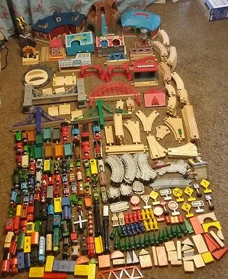 Huge Lot Wooden Train Track Pieces Thomas the Train Brio 40 lbs wooden plastic