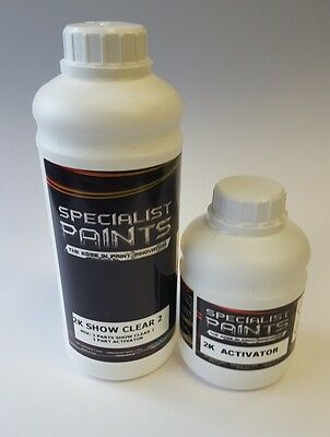 1 ltr Kit 2K Inspire Show Clear, clearcoat, custom paint, airbrush, metal flake
