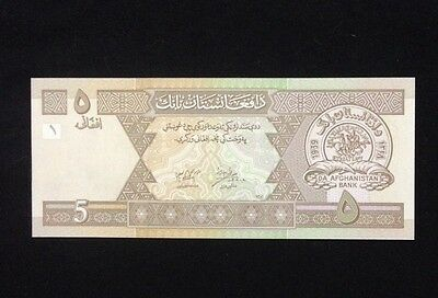 Afghanistan UNC 5 Afghanis Banknote World Currency Paper Money