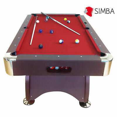 7Ft red Pool Table Billiard Playing Cloth billiards table Indoor Sports Game NEW