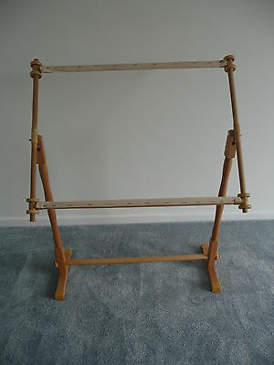 Tapestry, Cross Stitch, Embroidery, Sewing Wooden Floor Stand Frame Adjustable