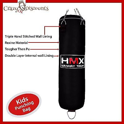Kids Punching Bag Boxing Gloves Floor Anchor System Boxing Martial Art Kick Box