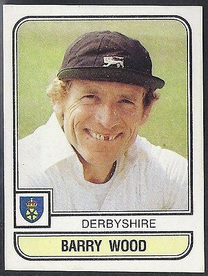 Panini-Cricket 83-#006- Derbyshire - Barry Wood