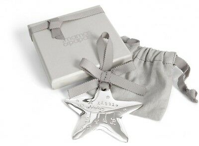 Mamas and Papas Baby Gift Silver Hanging Star Christening/ Baby Shower Gift BNIB