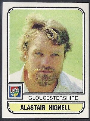 Panini-Cricket 83-#054- Gloucestershire - Alastair Hignell