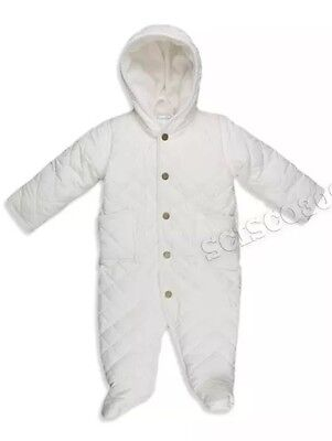 Polo Ralph Lauren Ivory Color Quilted Bunting Snowsuit NWT SIZE 3M Retail $74.99