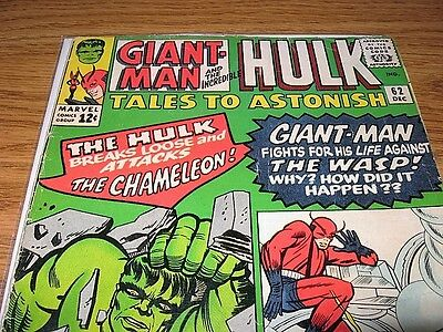 TALES TO ASTONISH 62 GIANT-MAN HULK 1st LEADER LEE KIRBY Missing the Pin-up page