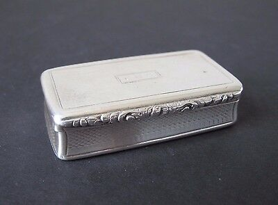 Georgian Era English Sterling Silver Presentation Snuff Box Edward Smith 1834