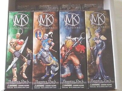 Four (4) MAGE KNIGHT UNLIMITED BOOSTER PACKS WZK204US WizKids 2002