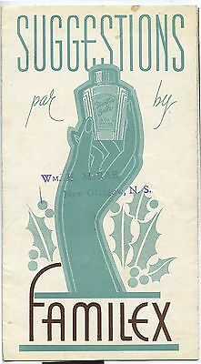 Old 1940's Familex Beauty Products Fold Out Brochure
