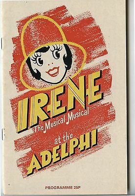 Old 1978 Theatre Program Irene The Musical Musical at the Adelphi