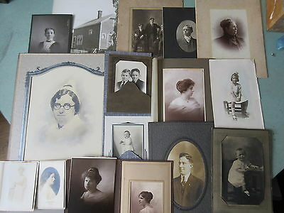 44 Old Antique Cabinet Photos Portraits People Places Etc