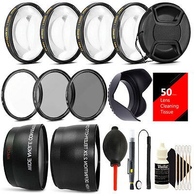 55mm Lens Filter Accessory Kit for Nikon D3400 D5600 w/ AF-P DX NIKKOR 18-55mm