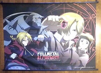 "2004 Fullmetal Alchemist Anime Wall Scroll Hanging Poster/Banner (42.5"" x 31"")"