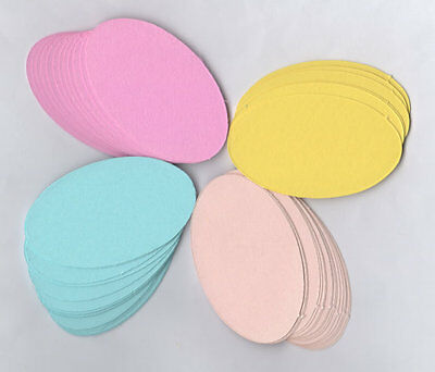 54 Assorted Colour Die Cut Oval Shapes For Layering.  £1,99 Freepost