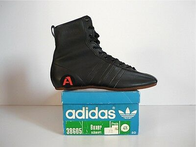 Unworn 70`s Vintage Adidas Boxer Boxing Hi Tops Boots Shoes 80`s Bnib Freestyle