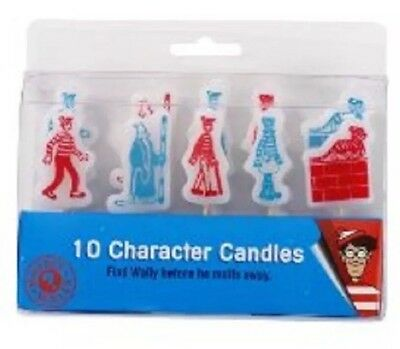 Where's Wally? Birthday Party Novelty Cake Candles Pack Of 10 Candles