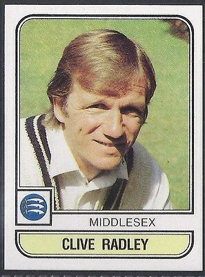 Panini-Cricket 83-#123- Middlesex - Clive Radley