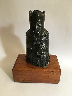 Viking Nordic Lewis Chessman-Style King Chess Piece Figure