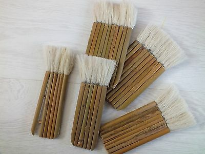 5 Japanese Chinese Budget Goat Hair 10 8 6 Bamboo Stick Hake Painting Brush Art