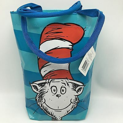 Dr Seuss Cat In The Hat Reusable Deluxe Tote Gift Bag Birthday Teachers Gift NWT