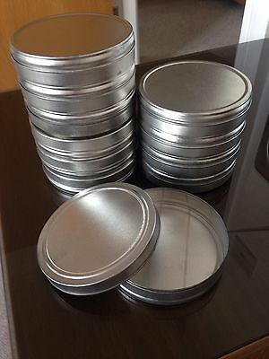 10 x Vintage Small Round Craft Tin 9cm