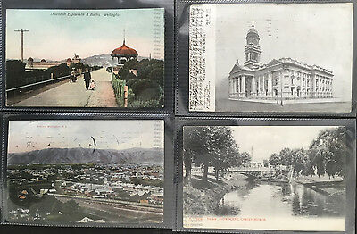 Selection Of 14 Old Posted Postcards From New Zealand
