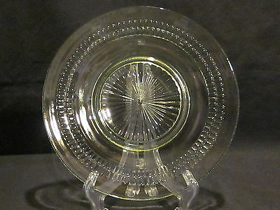 Hocking Glass Roulette Green Luncheon Plates (4), Cups & Saucers (4) & Sherbet