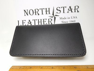 North Star Black Genuine Leather Standard Checkbook Cover-Second-Made In USA#132
