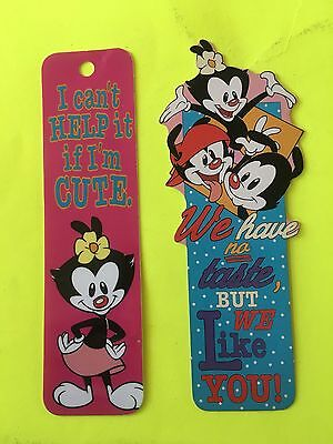 2 Vintage 1993 1994 Animaniacs Bookmarks Antioch Dot