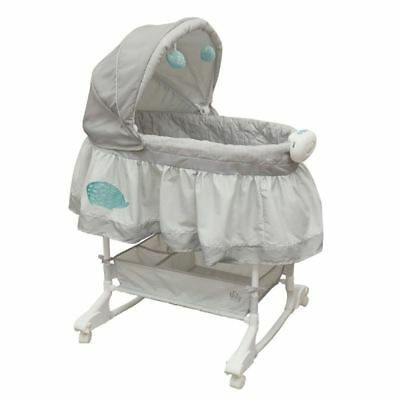 Bily B4410HDG 2-In-1 Bassinet Hedgehog, Grey
