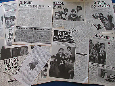 Joblot of Articles & Cuttings - R.E.M.