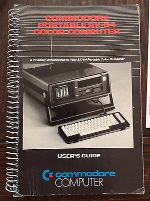 Vintage Commodore Portable SX-64 Color Computer User's Guide Manual P/N 251249