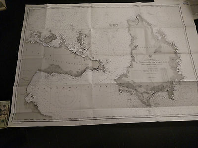 Antique Vintage US Navy Nautical Chart Aeronautical Map   Luzon Gulf PHILIPPINES