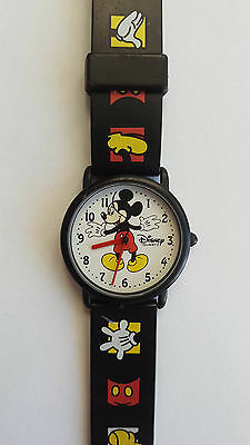DISNEY TIME WORKS - Quartz wrist watch - MICKEY MOUSE tail - Vintage retro RARE