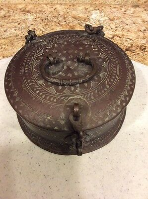 Antique Chinese Mongolian Lock Box