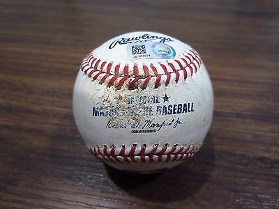 Byron Buxton Twins Game Used SINGLE Baseball 4/26/17 Hit #103 Dozier PID Hamels
