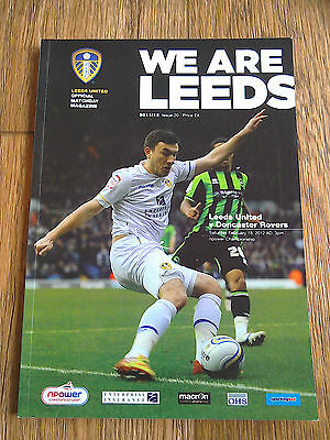 18/02/2012 Leeds United V Doncaster Rovers Championship Football Match Programme