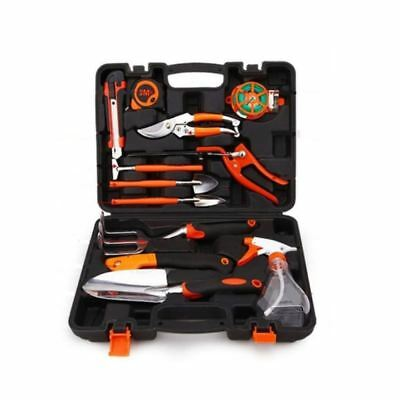 Naladoo 12 Pieces Garden Tools Set With Tool Case Ergonomic Handles