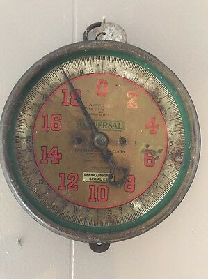 VINTAGE ANTIQUE LANDERS, FRARY & CLARK HANGING PRODUCE SCALE 1920's