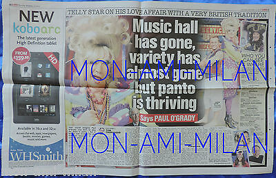 LILY SAVAGE - PAUL O'GRADY - RARE 2012 UK Clipping Interview Article Feature