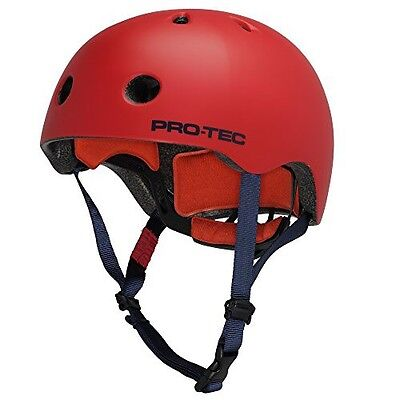 New Large Protec Street Lite Skate Skateboard Helmet Satin Blood Orange