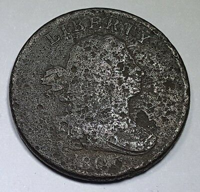 1803 US Half Cent Braided Hair Hay Penny Antique U.S. Currency Vintage USA Money