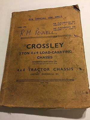 Military Crossley Load Carrying & Tractor Chassis Truck Workshop Manual 1944