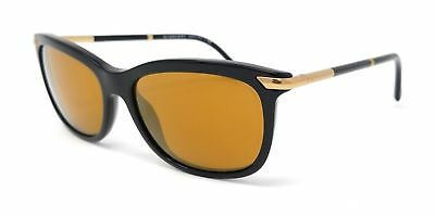 Burberry Sunglasses 4185 womens cateye black/brown mirror gold 30016H 57X17X145