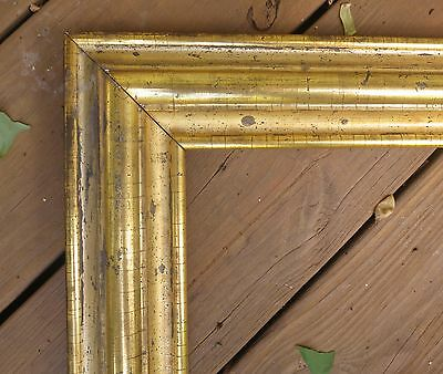 c1850 Outstanding LARGE AMERICAN Lemon WATER GILDED Antique MIRROR FLAG Frame
