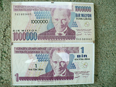GENUINE ONE MILLION (and one) BANK NOTE  ! ! !