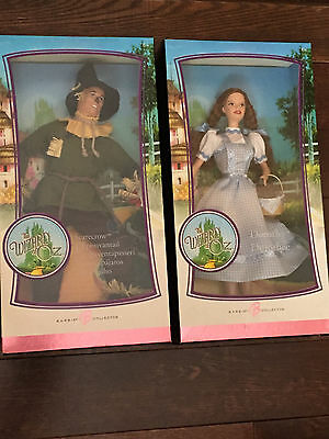 The Wizard of Oz Pink Label Barbie Collector Dorothy and Scarecrow NEW IN BOX
